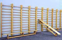 Шведская стенка деревянная 3000х1000 с верхним турником