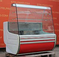 Кондитерская холодильная витрина «Cold» 1.25 м. (Польша), широкая выкладка (75 см.), Б/у, фото 1