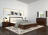 Кровать деревянная двуспальная с подъемным механизмом Регина Люкс ТМ Арбор Древ