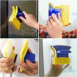 Двусторонняя магнитная щетка для мытья окон Glass Wiper, магнитный скребок для стекол Товары для дома , фото 2