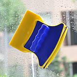 Двусторонняя магнитная щетка для мытья окон Glass Wiper, магнитный скребок для стекол Товары для дома , фото 8