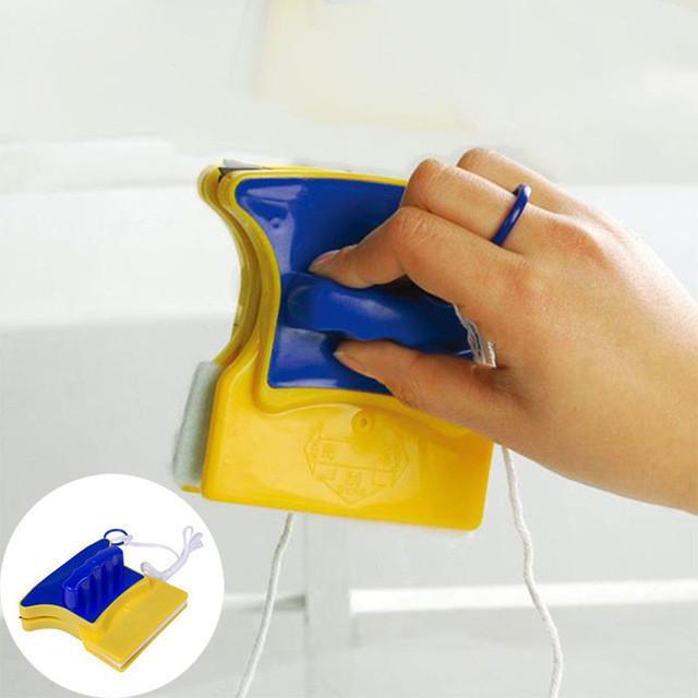 Двусторонняя магнитная щетка для мытья окон Glass Wiper, магнитный скребок для стекол Товары для дома