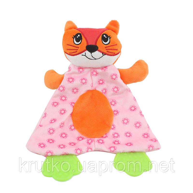 Мягкая игрушка с прорезывателем Лиса Dolery