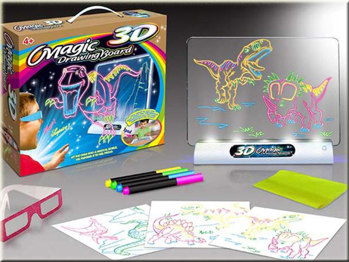 Магическая 3d доска для рисования, 3d magic drawing board, детская доска для рисования, Детские товары