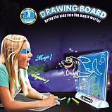 Магическая 3d доска для рисования, 3d magic drawing board, детская доска для рисования, Детские товары, фото 4