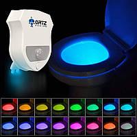 Подсветка для унитаза с датчиком движения toilet light bowl, Светодиодная подсветка унитаза, Для унітазу
