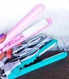 Мини утюжок для волос дорожный в прозрачном кейсе, щипцы для волос, мини выпрямитель, Красота и здоровье, фото 3