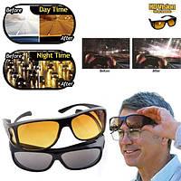 Антибликовые очки для водителей HD Vision Wrap Arounds, 2 шт (для дня и ночи), Антифары, Водительские очки, фото 1