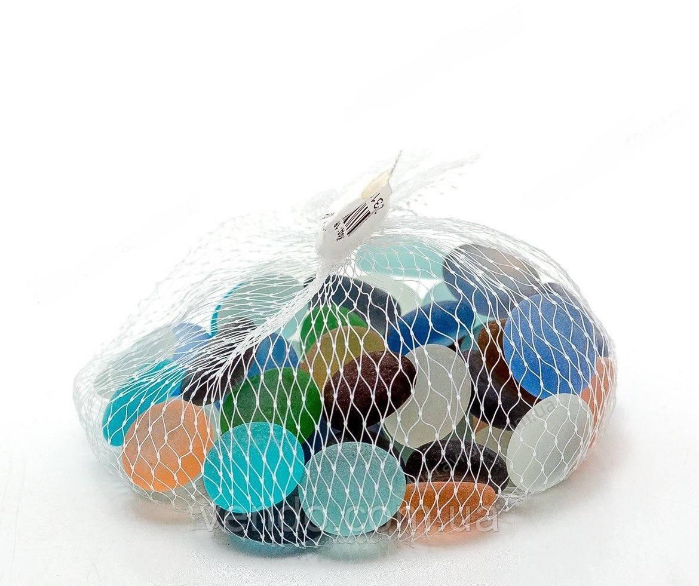 Камни для декора круглые цветные матированные микс d 2 см. 185 гр.