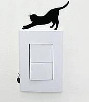"""Наклейка для переключателя """"Кошки-мышки"""" 2, цвет черный, размер 12*7см."""