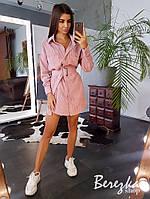 Вельветовое платье - рубашка, фото 1