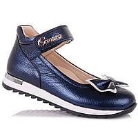 Школьные кожаные туфли с бантиком для девочек Cezara Rosso 14.5.103 (31-36)
