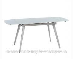 Стол раскладной Largo Matt White (Ларго Мат Вайт) 120-180см, стекло белый, Concepto