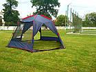 Шатер TrampПалатки шатры Mosquito (зелений, синій). Беседка тент шатер для дачи. Палатки шатры разборные, фото 3