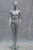 Манекен женский гипсовый (лаковый) (Серый)