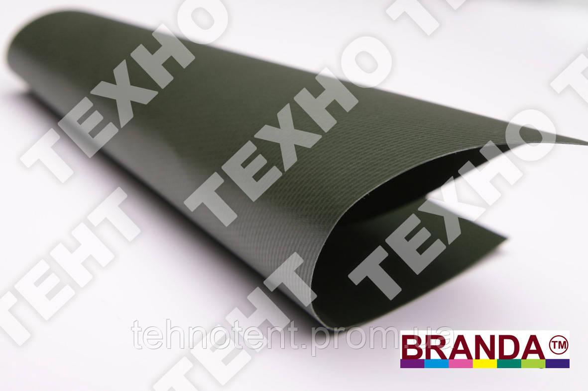Тентовая ткань ПВХ Оливка (хаки) 650  TM BRANDA