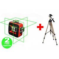 Лазерный уровень LSP LX-3D SET Green Pro + Штатив 1,5 м, фото 1