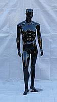 Манекен мужской гипсовый (лаковый) (Черный, белый, серый)
