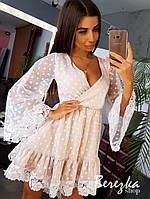 Платье с набивным кружевом, фото 1