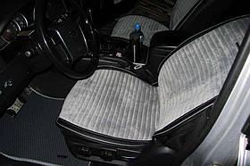 Накидки Car Fashion велюр + экокожа серые
