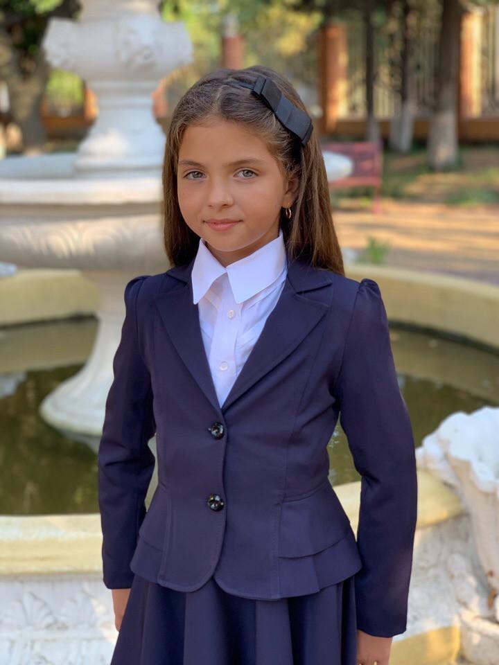 Школьный пиджак для девочки два волна школьная форма рост:122,128,134