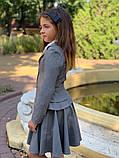 Школьный пиджак для девочки два волна школьная форма рост:122,128,134, фото 4