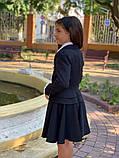 Школьный пиджак для девочки два волна школьная форма рост:122,128,134, фото 5