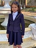 Школьный пиджак для девочки два волна школьная форма рост:122,128,134, фото 3