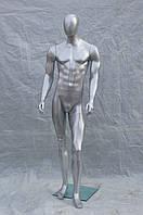 Манекен мужской гипсовый (лаковый) (серый, белый, черный)