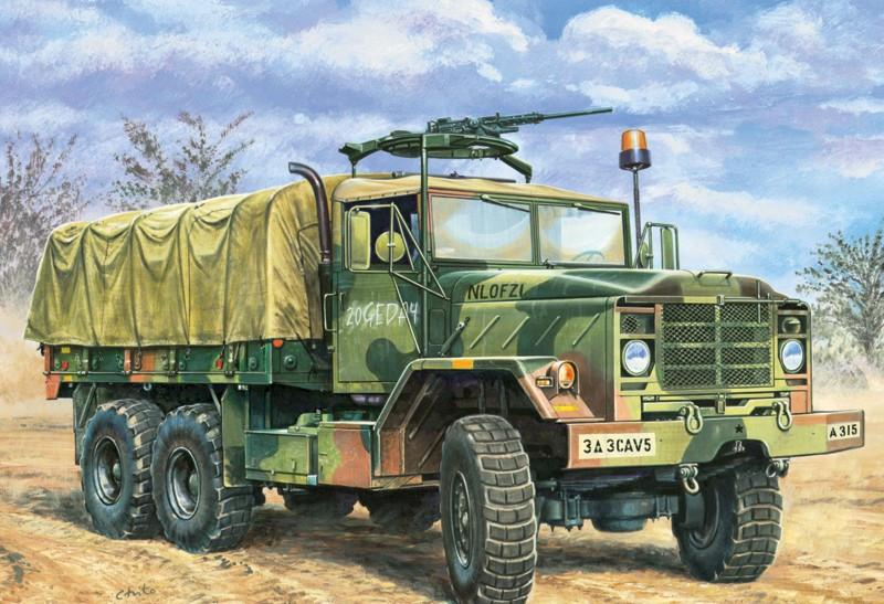 M-923 A1 BIG FOOT. Сборная модель американского военного грузовика в масштабе 1/35. ITALERI 279