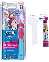 Детская  зубная щетка Oral-B D12. 513 Stages Power (Фрозен) 2 насадки в комплекте +колпачок