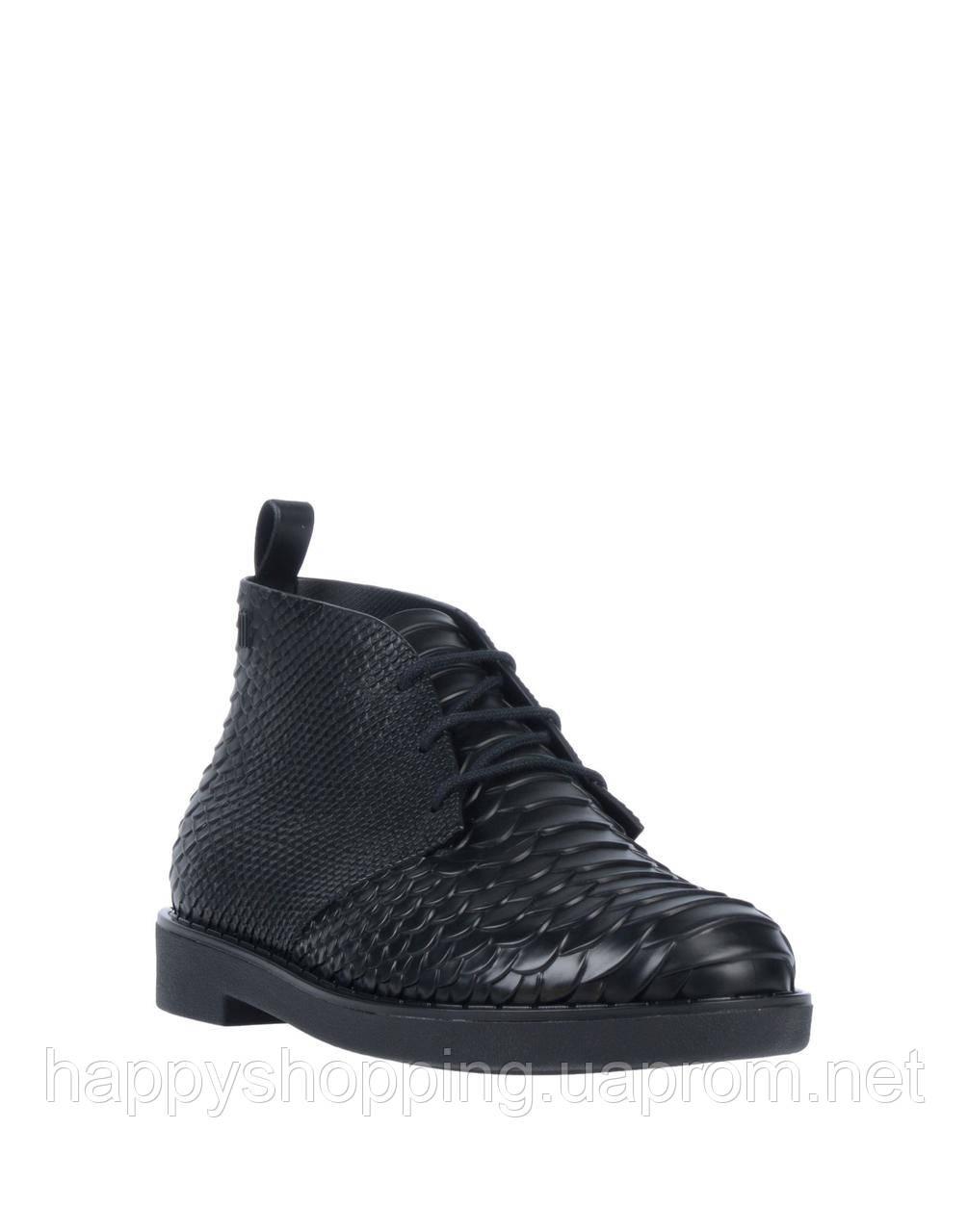 Женские оригинальные стильные черные пахнущие ботинки Melissa