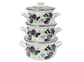 Набор эмалированной посуды Interos Фиалка 3 предмета (2999)