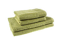 Махровое полотенце банное 70х140см, Индия, 400 г/м, оливкового цвета