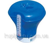 58209 BW, BestWay, Поплавок-дозатор с термометром, 18,5 см, для химии в таблетках