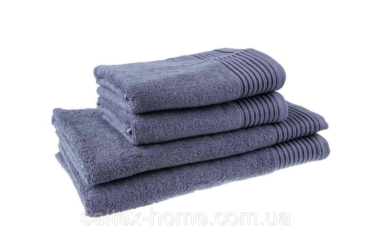 Махровое полотенце для лица 40х70см, Индия, 400 г/м, серого цвета