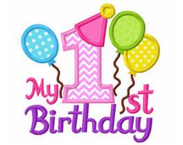 Первый день рождения 1 годик девочки