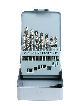 Набір свердл (1-10 мм з кроком 0.5 мм) 19-ч. DIN 338 HSS-G  GSR Німеччина
