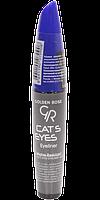GOLDEN ROSE cat's Eyes Liner Blue Matte Підводка для очей блакитна