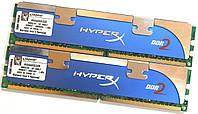Комплект оперативной памяти Kingston HyperX DDR2 4Gb (2Gb+2Gb) 800MHz PC2 6400U (KHX6400D2/2GR) Б/У, фото 1