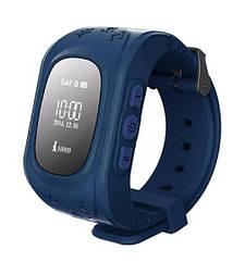 Детские умные смарт-часы Q50 с GPS трекером. Smart Watch темно-синие