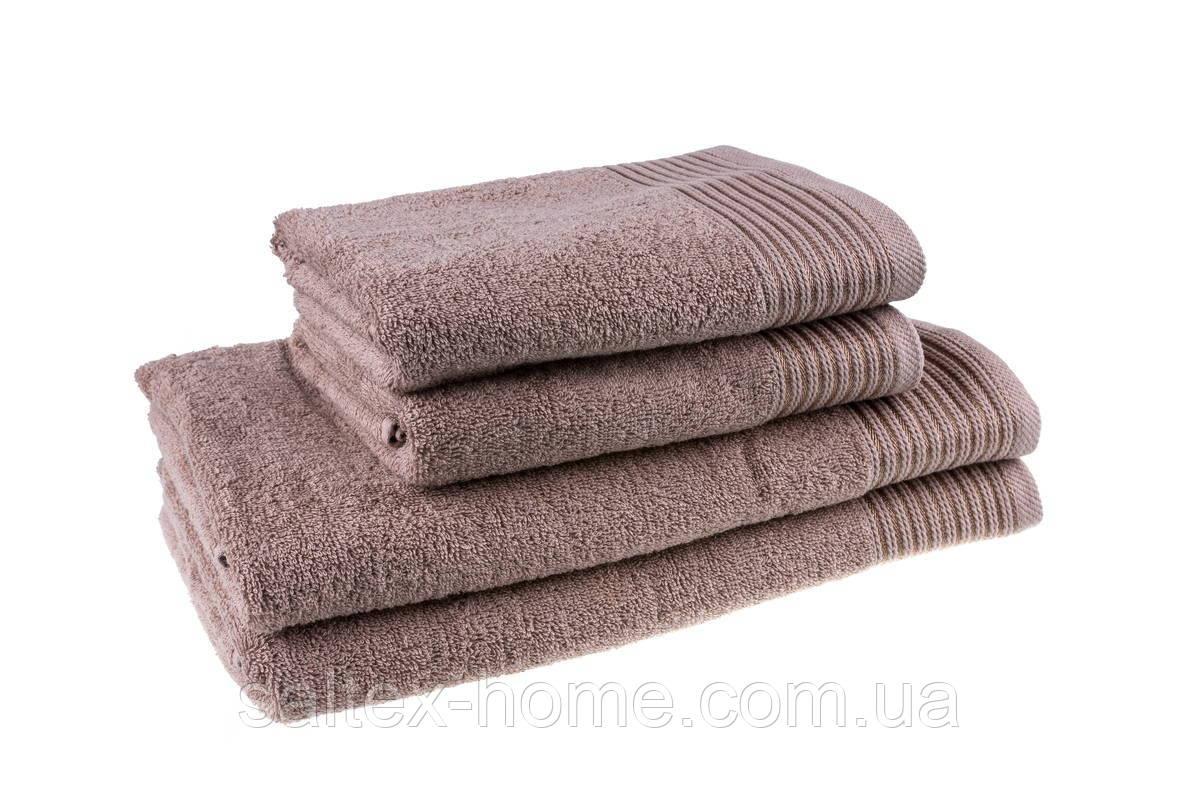 Махровое полотенце для тела 70х140см, Индия, 400 г/м, цвет капучино