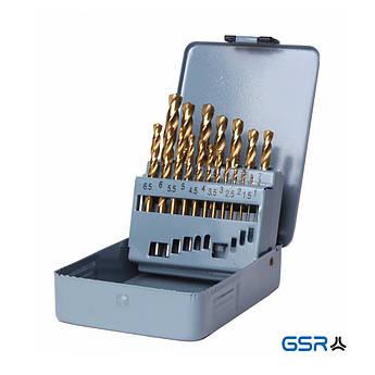 19-ч. Набір свердл DIN 338 HSS-G TiN  GSR Німеччина
