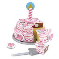 """Деревянный игровой набор """"Трехъярусный праздничный торт"""", Melissa&Doug, фото 1"""