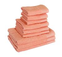 Махровое полотенце для лица 40х70см, Индия, 400 г/м, персикового цвета