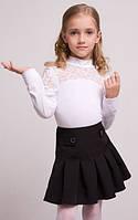 Школьные белые блузы с длинным рукавом
