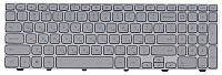 Клавиатура Dell Inspiron (15-7000, 7537) Black, RU с подсветкой (Light), Silver, (Silver Frame) RU