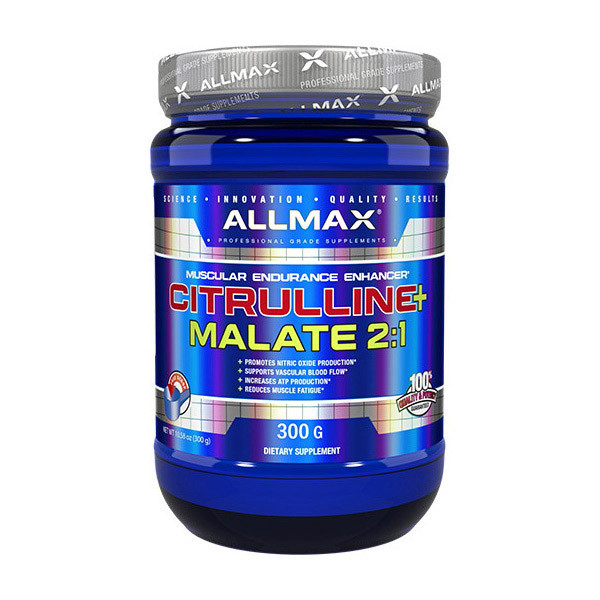 Л-Цитруллин малат AllMax Nutrition Citrulline Malate 2:1 (300 г) алмакс