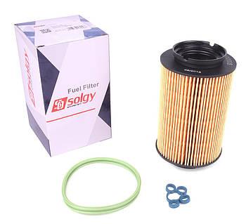 Фильтр топливный VW Caddy 1.9TDI-2.0SDI (5 болтов) (102025) Solgy