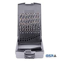 Набір свердл (1-10 мм з кроком 0.5 мм) 19-ч. DIN 338 HSS-G Powerspike  GSR Німеччина